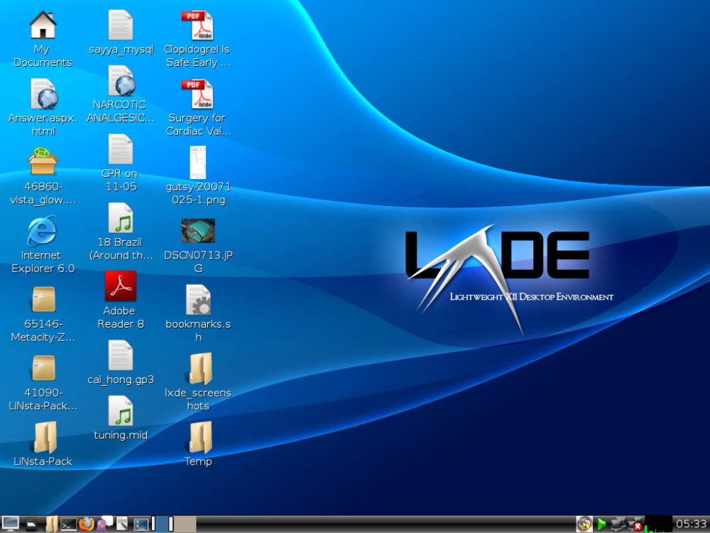 LXDE - Lightweight X11 Desktop Environment